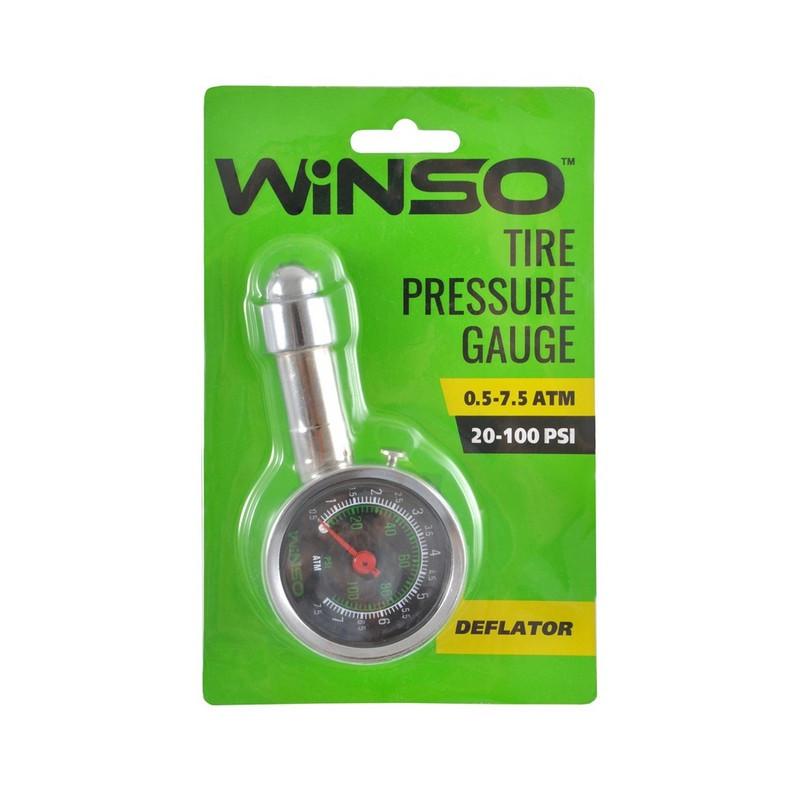 Автомобільний манометр для шин Winso металевий 7.5 атм (143200)