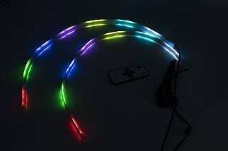 "DRL с функцией БЕГУЩЕГО поворота ""RUNNING WATER"" ( RGB + Yellow/к-кт 2x60cm), фото 3"