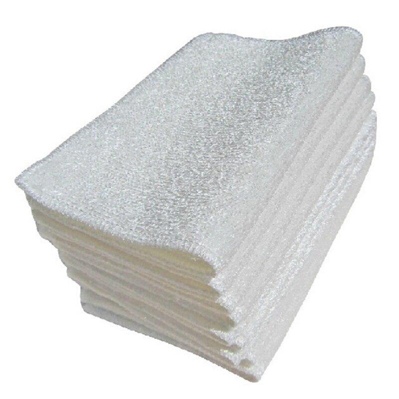 Бамбуковая салфетка для мытья посуды Белая