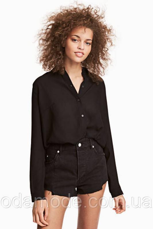Рубашка женская чёрнаяH&M