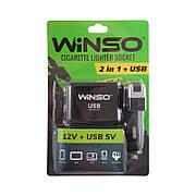 Разветвитель прикуривателя WINSO с предохранителем 2 в 1 + USB (200120)