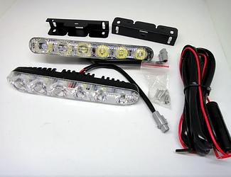 Фара ДХО LED DRL-9-Y-W с поворотом | Ходовые огни комплект