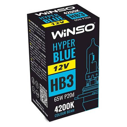 Галогенна лампа Winso HYPER BLUE HB3 12V 65W P20d 4200K (712510), фото 2