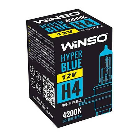 Галогенная лампа Winso HYPER BLUE H4 12V 4200K 60/55W P43t-38 (712440), фото 2