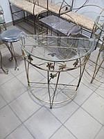 Кованый консольный столик большой.