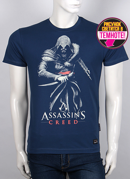Футболка 3D Valimark Brand Assassins creed темный джинс