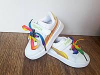 Белые кроссовки на девочку размеры: 24.29