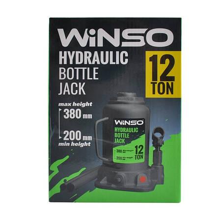 Домкрат бутылочный WINSO 171200 12т 200-380мм, фото 2