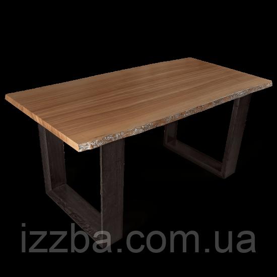 Стол из массива дерева в стиле лофт