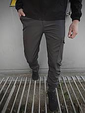 Мужской костюм серо-черный демисезонный Intruder Softshell Light Куртка мужская серая, штаны синие черные, фото 3