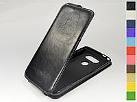 Откидной чехол из натуральной кожи для LG G5