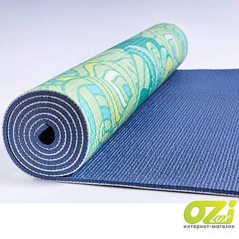 Коврик для йоги MS 2990 зеленый