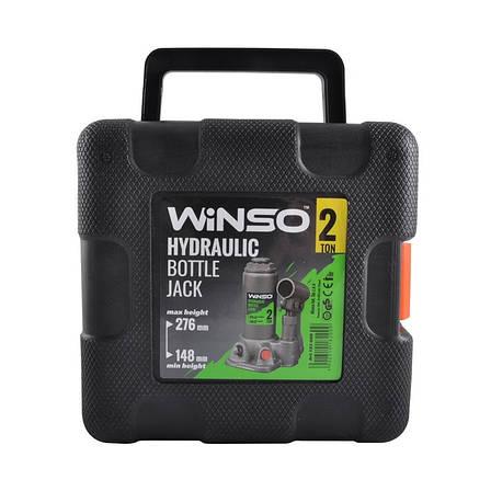 Домкрат бутылочный WINSO 182000 2т 148-276мм в кейсе, фото 2