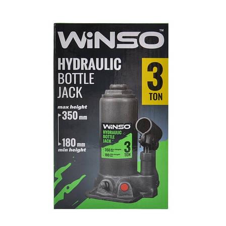 Домкрат бутылочный WINSO 173000 3т 180-350мм, фото 2