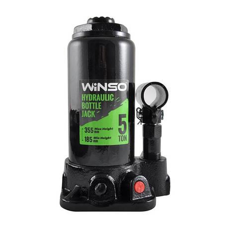 Домкрат бутылочный WINSO 185000 5т 185-355мм в кейсе, фото 2
