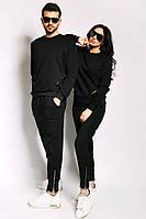 Трикотажные одинаковые костюмы Змейки черные
