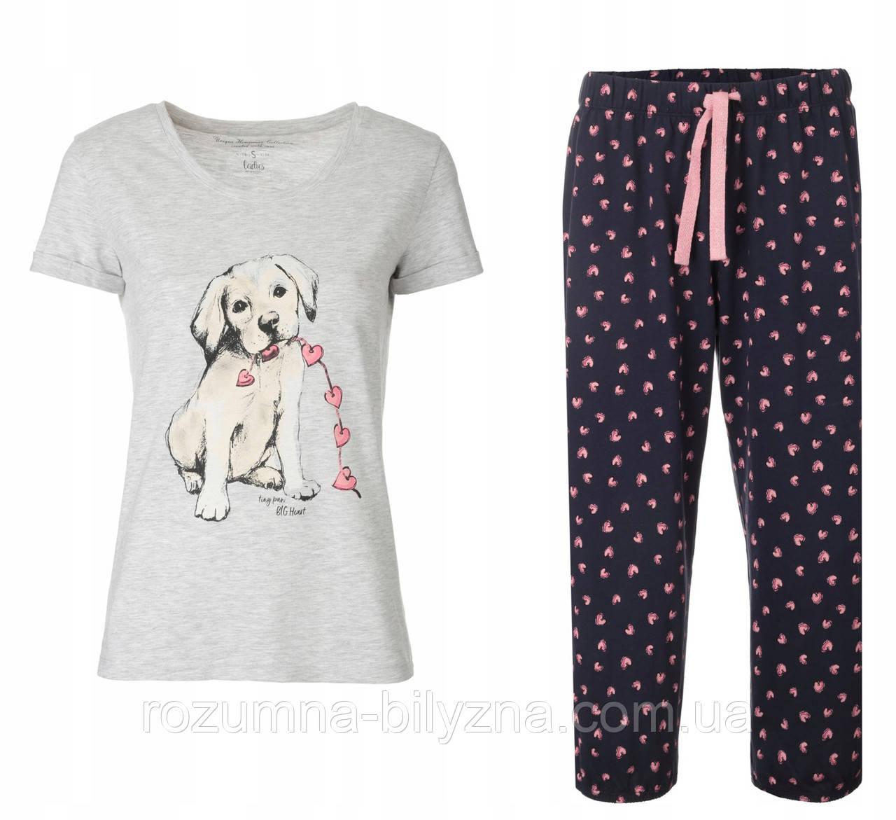 Піжама жіноча бріджи+футболка,ТМ Henderson. M