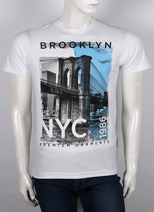 Футболка 3D Valimark Brand   BROOKLYN цвет белый