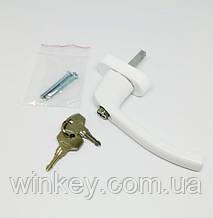 Ручка оконная с ключиком Antey белая антидетка