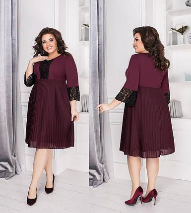 """Романтическое женское платье с кружевом ткань """"Костюмная"""" 54 размер, фото 2"""