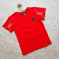 Красная детская футболка Gucci