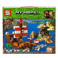 Конструктор Senco My World Пиратский корабль, 417 деталей