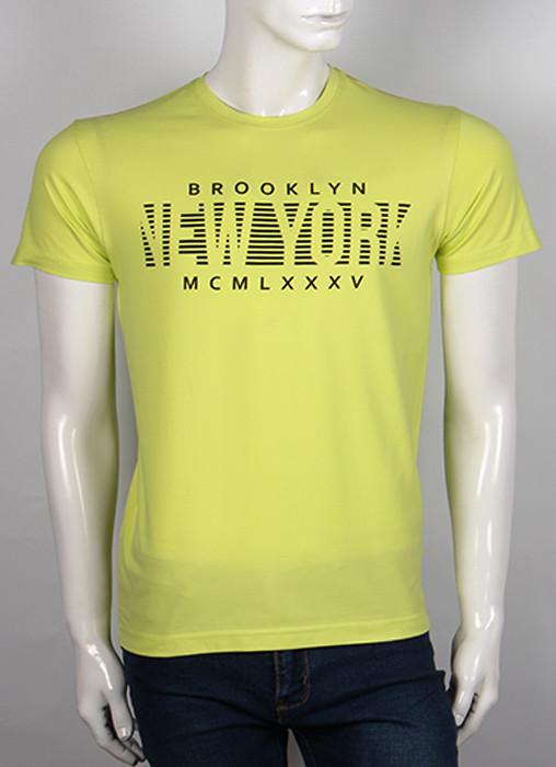 Футболка 3D Valimark Brand   BROOKLYN NEW YORK цвет лайм