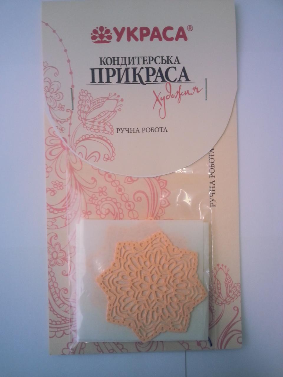 Гибкое кружево листочки, цветочки (съедобная) Ассорти Украина - 04289