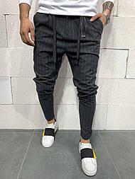 😉 Брюки - Мужские зауженые брюки в полоску