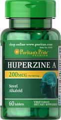 Puritan's Pride Huperzine A 200 mcg, Гуперзин А (60 таб.)