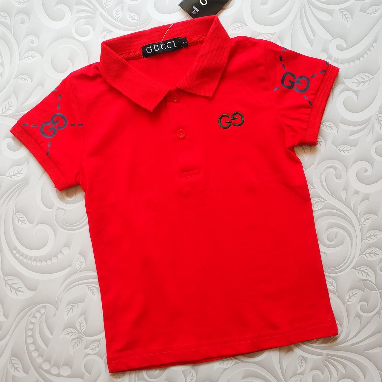 Детская красная футболка поло Gucci