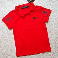 Детская красная футболка поло Gucci, фото 1