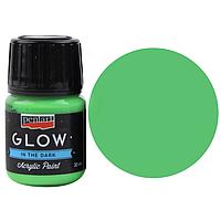 Фарба акрилова-люминофор для декору «Glow in the dark», Зелена, 30 мл, Pentart 16485