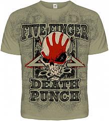 "Футболка Five Finger Death Punch ""Knucklehead"" (olive t-shirt), Размер M"