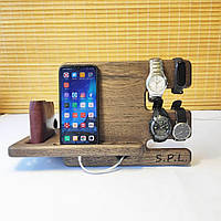 Органайзер для телефона часов из дерева
