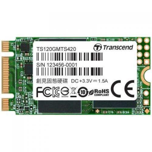 Диск SSD M.2 2242 120GB Transcend (TS120GMTS420S) (Магазин М8)