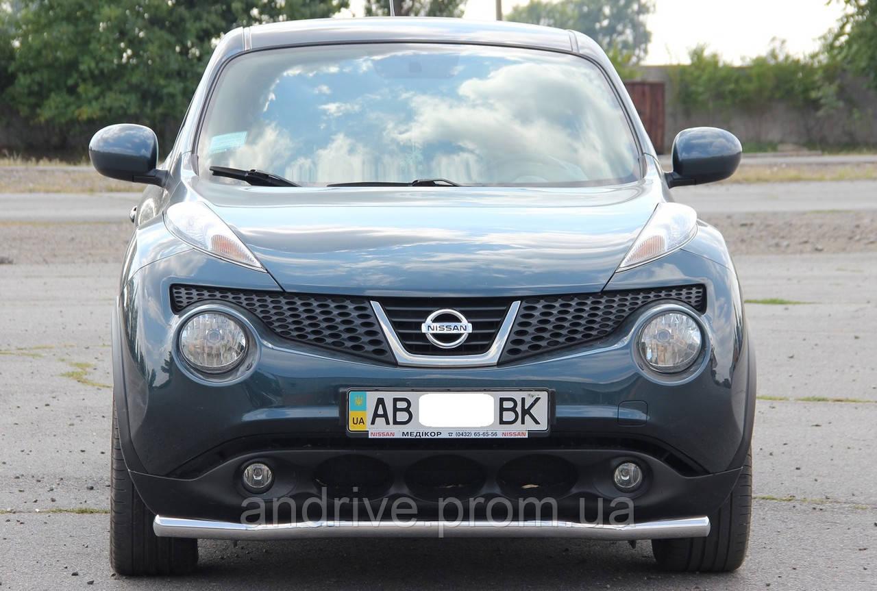Защита переднего бампера (ус одинарный) Nissan Juke 2010-2014