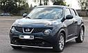 Захист переднього бампера (ус одинарний) Nissan Juke 2010-2014, фото 2