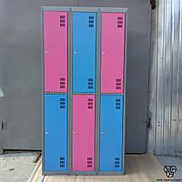 Шкафы недорого - металлический гардеробный ШМ-3-6-300х900