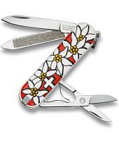 Нож Victorinox Викторинокс Classic Edelweiss 58 мм 7 предметов