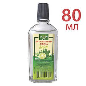 Антисептическая жидкость для рук Eva Cosmetics Arthur LeBlanc Лайм 80 мл