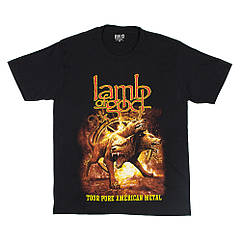 "Футболка Lamb of God ""Tour Pure American Metal"" (Red Rock), Размер M"