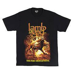 "Футболка Lamb of God ""Tour Pure American Metal"" (Red Rock), Размер XXL"