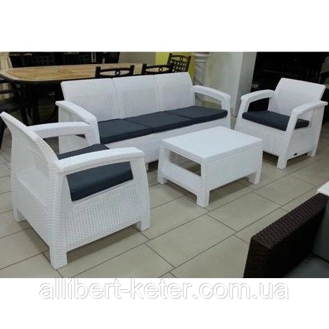 Комплект садовой мебели Allibert by Keter Corfu Triple Set White ( белый )