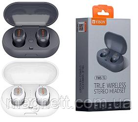Беспроводные Bluetooth наушники Yison TWS-T1 (черные и белые)