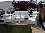 Комплект садовой мебели Allibert by Keter Corfu Triple Set White ( белый ), фото 3