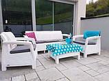 Комплект садовой мебели Allibert by Keter Corfu Triple Set White ( белый ), фото 5