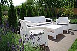 Комплект садовой мебели Allibert by Keter Corfu Triple Set White ( белый ), фото 7