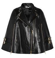 Кейп куртка из натуральной кожи, фото 1