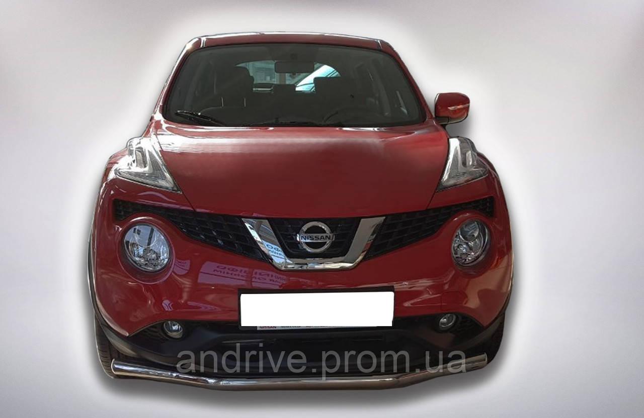 Защита переднего бампера (ус одинарный) Nissan Juke 2014+